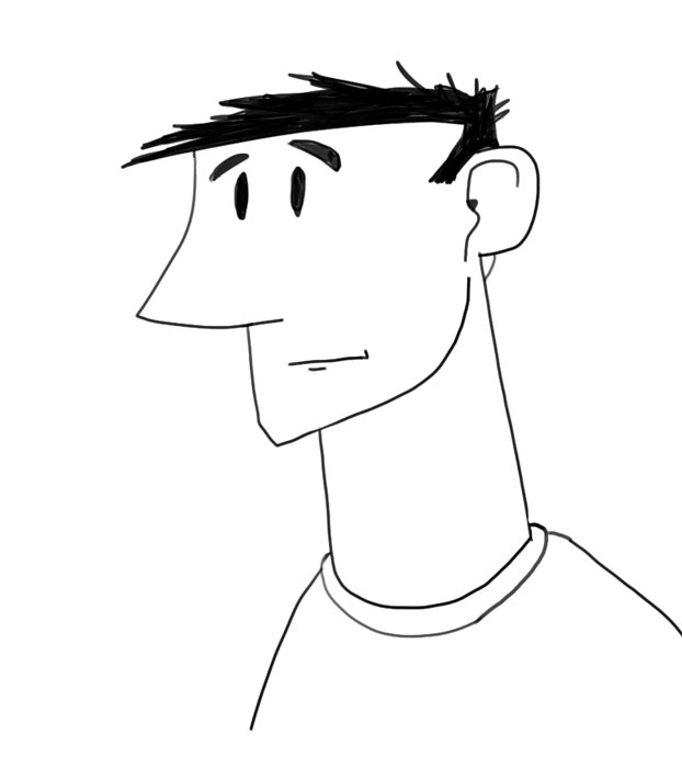 quick doodle of a male face